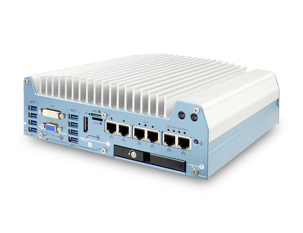 Nuvo-7000LP series series 8th-Gen Coffee Lake Core™ Fanless Computer with 6xGbE Ports, MezIO™ Interface and Low-profile Chassis