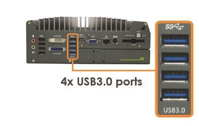 Nuvis-3304af 4x USB3.0 ports
