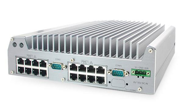 Nuvo-3616VR: Intel® 3rd-Gen Core™ i7/i5 Fanless Surveillance System with 16x/8x 802.3at PoE+ ports